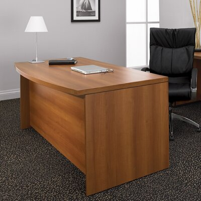 Special Double Pedestal Bow Front Executive Desk Product Photo