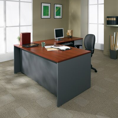 Adaptabilities 29 H x 48 W Desk Return Finish: Avant Cherry/Storm Grey, Drawer: Right