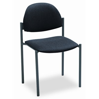 Comet Armless Stacking Guest Chair (Set of 3) Color: Black