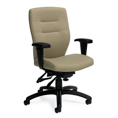 Synopsis Mid-Back Multi Office Chair with Height Adjustable Arms Upholstery: Beach Day