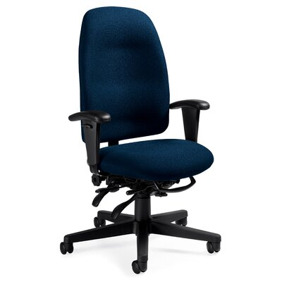 Global Total Office High-Back Pneumatic Multi-Tilter Office Chair with T-Arms - Fabric: Shard Tempest at Sears.com