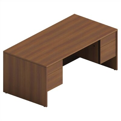 Double Pedestal Computer Desk Laminate Product Photo