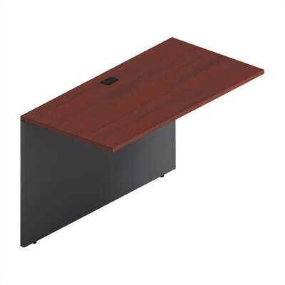 Adaptabilities 29 H x 48 W Desk Bridge Laminate: Avant Cherry/Storm Grey