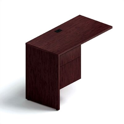 Genoa 29 H x 40 W Desk Return Drawers: Left, Finish: Figured Mahogany