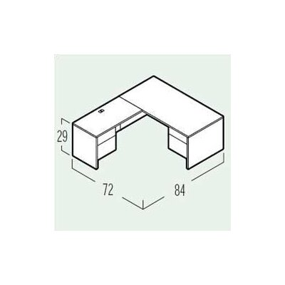 Shell Executive Desk Drawers Product Picture 2196