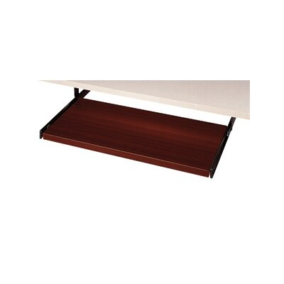 3.5 H x 20 W Desk Keyboard Tray Laminate: Figured Mahogany