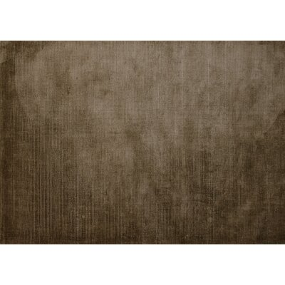 Regency Hand-Woven Brown Area Rug Rug Size: 5'2