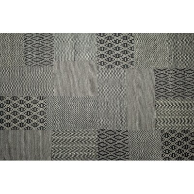 Textara Hand Woven Black/White Area Rug Rug Size: Rectangle 52 x 76