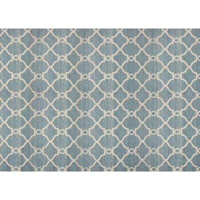 Silky Blue Area Rug Rug Size: 52 x 76