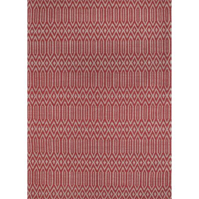 Serengeti Hand Tufted Wool Red Area Rug