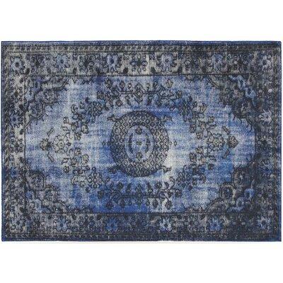 Istanbul Dark Blue Area Rug Rug Size: 79 x 98