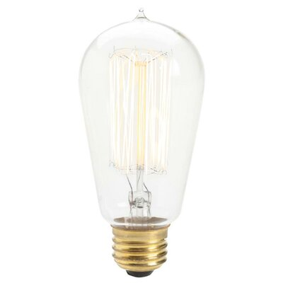 60W A E26 Incandescent Vintage Filament Light Bulb