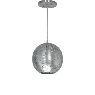 Silver Screen 1-Light Globe Pendant