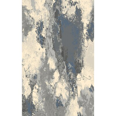 Cosmopolitain Gray/Ivory Area Rug Rug Size: 79 x 98