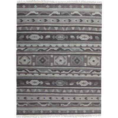 Black/Gray Area Rug Rug Size: 79 x 98