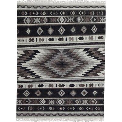 Black/Gray Area Rug Rug Size: 52 x 72