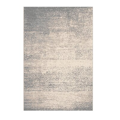 Azure Beige/Gray Area Rug Rug Size: 52 x 72