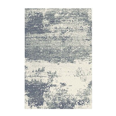 Ivory/Gray Area Rug Rug Size: 79 x 98