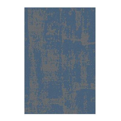 Azure Blue/Gray Area Rug Rug Size: 52 x 72