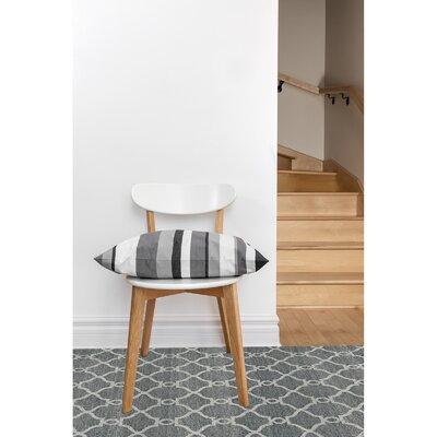 Silky Dark Gray Area Rug Rug Size: 52 x 76