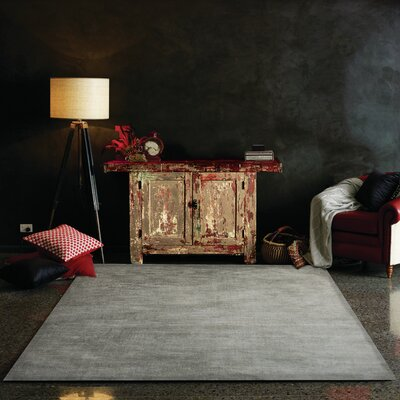 Regency Hand Woven Dark Gray Area Rug Rug Size: Rectangle 52 x 76