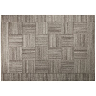 Patchwork Gray Area Rug Rug Size: 52 x 76