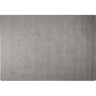 Angora Hand-Woven Gray Area Rug Rug Size: 52 x 72