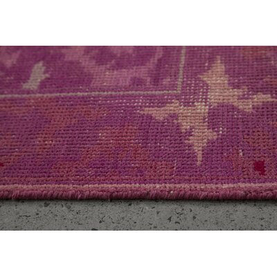 Hand-Knotted Pink Area Rug Rug Size: 79 x 98