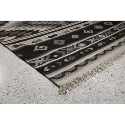 Black/Gray Area Rug Rug Size: 79 x 98