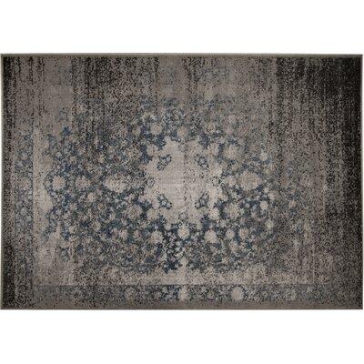 Azure Beige/Black Area Rug Rug Size: 52 x 72