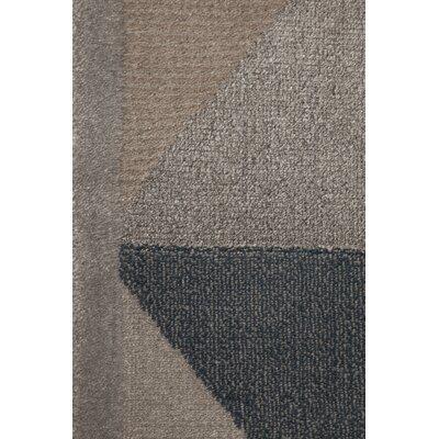 Azure Gray/Beige Area Rug Rug Size: 52 x 72