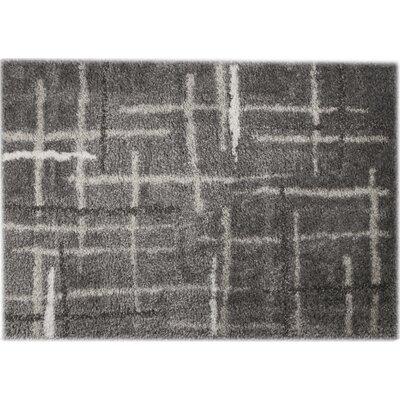 Carrara Ivory/Gray Area Rug Rug Size: 79 x 98