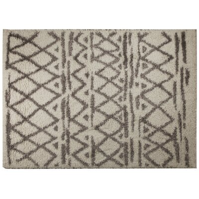 Carrara White/Green Area Rug Rug Size: 79 x 98