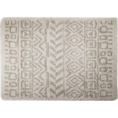 Carrara White/Gray Area Rug Rug Size: 79 x 98