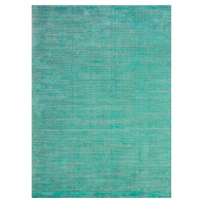 Cort Hand Tufted Turquoise Area Rug