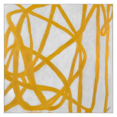'Yellow Snare' Framed Painting Print on Canvas