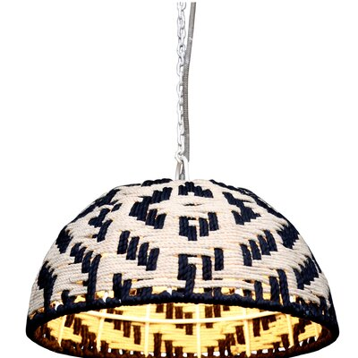 Ewarton 1-Light Bowl Pendant