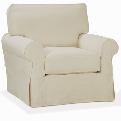 Nantucket Armchair Upholstery: Washed Canvas Ivory