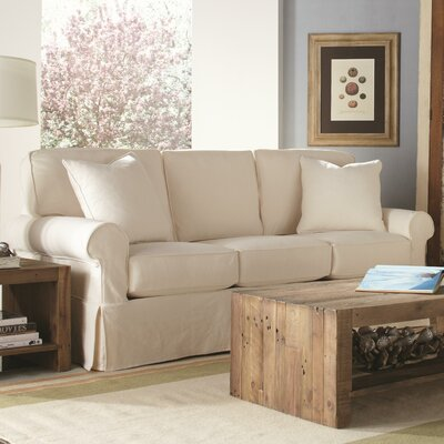Nantucket Sofa Upholstery: Washed Canvas Ivory