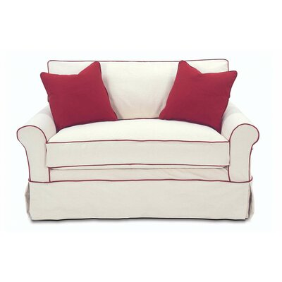 Somerset Twin Sleeper Sofa Upholstery: Washed Ticking Oatmeal