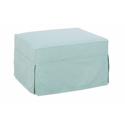Sybil Ottoman Upholstery: Washed Cotton Spa Blue