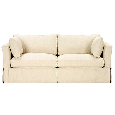 Darby Sofa Upholstery: Washed Ticking Butter