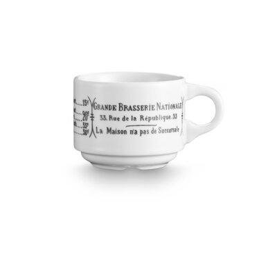 Pillivuyt Brasserie 3 oz. Espresso Cup (Set of 4) 111310BR