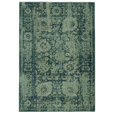 Expressions Oriental Green Area Rug Rug Size: Rectangle 99 x 122