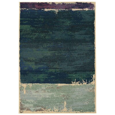 Expressions Abstract Green Area Rug Rug Size: Rectangle 53 x 76