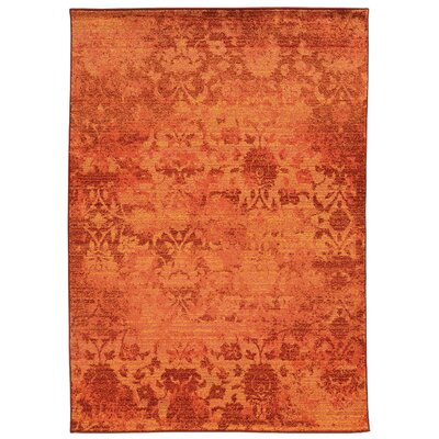 Expressions Oriental Orange Area Rug Rug Size: Rectangle 67 x 91