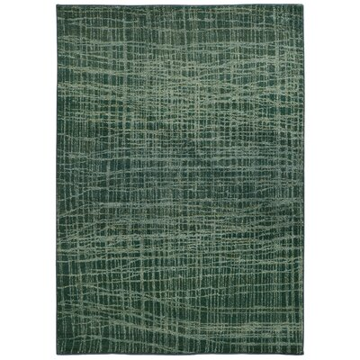 Expressions Abstract Green Area Rug Rug Size: 67 x 91