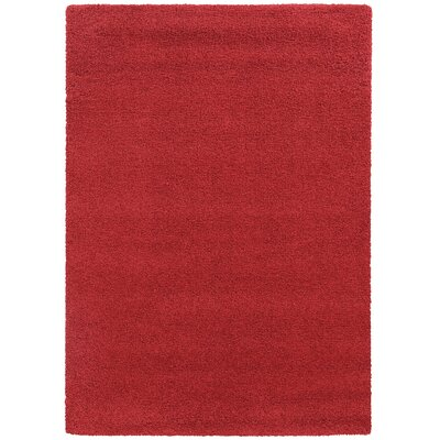 Focus Red Shag Area Rug Rug Size: Rectangle 910 x 1210