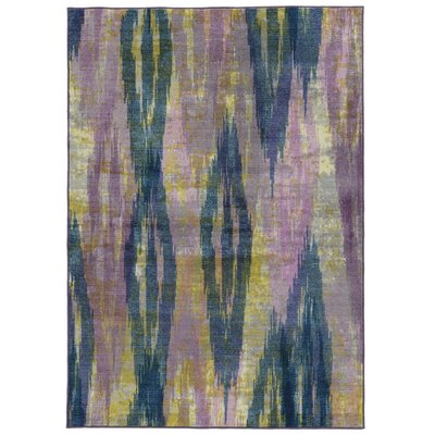 Prismatic Abstract Purple/Blue Area Rug Rug Size: Rectangle 35 x 55