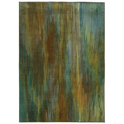 Prismatic Abstract Green Area Rug Rug Size: 53 x 76